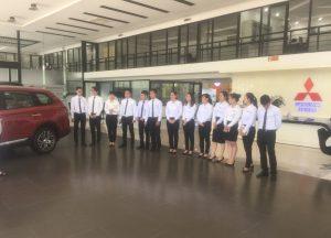 Chương trình tập huấn lế nghi đón tiếp khách hàng của Mitsubishi Trung Thượng