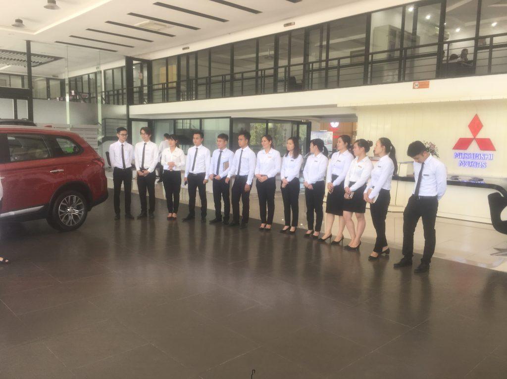 chương trình tập huấn cho thấy sự nỗ lực nâng cao chất lượng dịch vụ của Mitsubishi Trung Thượng