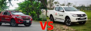 So sánh Mitsubishi Triton 2018 và Chevrolet Colorado